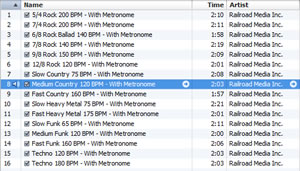 Screenshot - Importing play along CD into iTunes