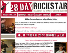 28 Day Rock Star website