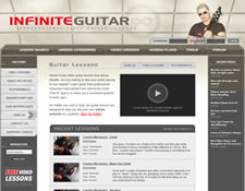 Infinite Guitar website